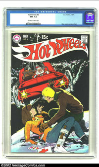 Hot Wheels #6 (DC, 1971) CGC NM- 9.2 Off-white to white pages. Neal Adams cover and art. No copies graded higher on CGC'...