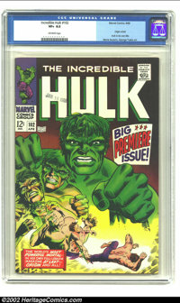 The Incredible Hulk #102 (Marvel, 1968) CGC VF+ 8.5 Off-white pages. Origin retold. Marie Severin and George Tuska art...
