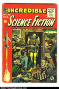 Golden Age (1938-1955):Science Fiction, Incredible Science Fiction #32 (EC, 1955) Condition: GD/VG.Overstreet 2002 GD 2.0 value = $37; FN 6.0 value = $111....
