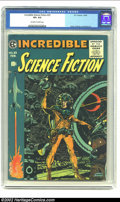 Golden Age (1938-1955):Science Fiction, Incredible Science Fiction #33 (EC, 1956) CGC VF+ 8.5 Off-white towhite pages. Beautiful Wally Wood cover with interior by ...