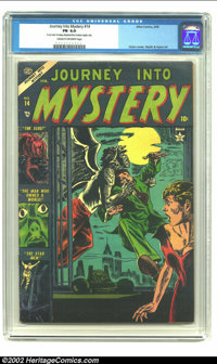 Journey into Mystery #14 (Marvel, 1953) CGC FN 6.0 Cream to off-white pages. Gene Colan cover. Russ Heath and Dick Ayers...