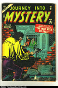 Golden Age (1938-1955):Horror, Journey into Mystery #21 (Marvel, 1955) Condition: GD/VG. Kubertart. Tothish art by Andru. Overstreet 2002 GD 2.0 value = $...