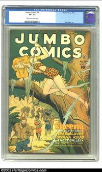 Jumbo Comics #89 (Fiction House, 1946) CGC VF- 7.5 Cream to off-white pages. Matt Baker art and Joe Doolin cover. Overst...