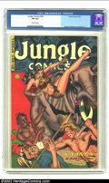 Golden Age (1938-1955):Miscellaneous, Jungle Comics #149 (Fiction House, 1952) CGC VF 8.0 Off-white pages. Maurice Whitman cover. Second highest-graded CGC certif...