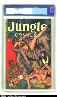 Jungle Comics #149 (Fiction House, 1952) CGC VF 8.0 Off-white pages. Maurice Whitman cover. Second highest-graded CGC ce...