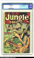 Golden Age (1938-1955):Miscellaneous, Jungle Comics #151 Canadian Edition (Fiction House, 1952) CGC VF 8.0 Off-white pages. Maurice Whitman cover and art. Overstr...