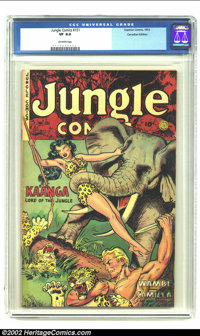 Jungle Comics #151 Canadian Edition (Fiction House, 1952) CGC VF 8.0 Off-white pages. Maurice Whitman cover and art. Ove...