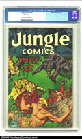 Golden Age (1938-1955):Miscellaneous, Jungle Comics #160 (Fiction House, 1953) CGC NM- 9.2 Off-white to white pages. Maurice Whitman cover and art. Ruben Moreira ...