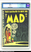 Golden Age (1938-1955):Humor, Mad #1 (EC, 1952) CGC FN+ 6.5 Off-white pages. This seminal satire issue started the ball rolling for scores of imitators, a...