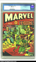 """Golden Age (1938-1955):Superhero, Marvel Mystery Comics #12 D pedigree (Timely, 1940) CGC NM- 9.2 Cream to off-white pages. """"Headlight"""" cover by Jack Kirby. P..."""