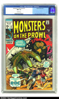 Bronze Age (1970-1979):Horror, Monsters on the Prowl #10 (Marvel, 1971) CGC NM- 9.2 Off-whitepages. Marie Severin cover. Jack Kirby and Don Heck art. Over...