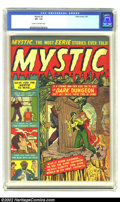 Golden Age (1938-1955):Horror, Mystic #2 (Atlas, 1951) CGC VF- 7.5 Cream to off-white pages.Highest (and only) copy of this rare book on CGC's census. Ove...