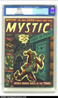Golden Age (1938-1955):Horror, Mystic #7 (Atlas, 1952) CGC FN+ 6.5 Cream to off-white pages. Maneely cover and Gene Colan art. Overstreet 2002 FN 6.0 value...