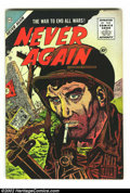 Golden Age (1938-1955):War, Never Again #1 File Copy (Charlton, 1955) Condition: FN/VF. Warstories. Overstreet 2002 FN 6.0 value = $27; VF 8.0 value = ...