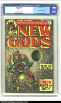 Bronze Age (1970-1979):Superhero, The New Gods #1 (DC, 1971) CGC NM- 9.2 Off-white to white pages. This issue features the first appearance of Orion and the N...