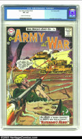 Silver Age (1956-1969):War, Our Army At War #133 (DC, 1963) CGC VF+ 8.5 Cream to off-white pages. Joe Kubert cover and art. Overstreet 2002 VF 8.0 value...