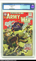 Silver Age (1956-1969):War, Our Army At War #143 (DC, 1964) CGC NM- 9.2 Off-white pages. Joe Kubert cover and art. Overstreet 2002 NM 9.4 value = $80. ...