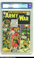 Silver Age (1956-1969):War, Our Army At War #150 (DC, 1965) CGC VF 8.0 Cream to off-white pages. Joe Kubert cover and art. Overstreet 2002 VF 8.0 value ...