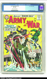 Our Army At War #153 (DC, 1965) CGC VF 8.0 Cream to off-white pages. Joe Kubert cover and art. Second Enemy Ace appearan...