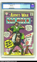 Silver Age (1956-1969):War, Our Army At War #169 (DC, 1966) CGC NM- 9.2 Cream to off-white pages. Joe Kubert cover and art. Gene Colan art. Overstreet 2...
