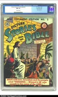 Picture Stories from the Bible New Testament #2 Gaines File pedigree (EC, 1942) CGC NM 9.4 Off-white pages. CGC has cert...
