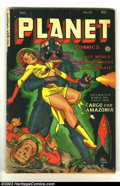 Golden Age (1938-1955):Science Fiction, Planet Comics #70 (Fiction House, 1953) Condition: VG-. FantasticRobot cover. Very cool, rare later issue. Overstreet 2002 ...