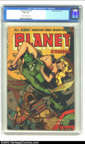 Golden Age (1938-1955):Science Fiction, Planet Comics #72 (Fiction House, 1953) CGC VG+ 4.5 Cream tooff-white pages. Whitman cover. Overstreet 2002 GD 2.0 value = ...