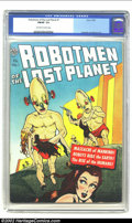 Golden Age (1938-1955):Science Fiction, Robotmen of the Lost Planet #1 (Avon, 1952) CGC FN/VF 7.0 Off-whiteto white pages. Overstreet 2002 FN 6.0 value = $315; VF ...