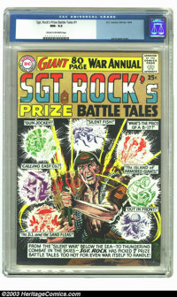Sgt. Rock's Prize Battle Tales Annual #1 (DC, 1964) CGC NM- 9.2 Cream to off-white pages. Joe Kubert cover. CGC highest-...