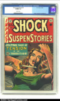 Golden Age (1938-1955):Horror, Shock SuspenStories #8 (EC, 1953) CGC VF/NM 9.0 Off-white pages. Anintense Al Feldstein cover leads off this near-perfect c...
