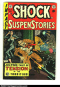 Golden Age (1938-1955):Horror, Shock SuspenStories #14 (EC, 1954) Condition: VG+. Great Wally Woodcover. Overstreet 2002 GD 2.0 value = $19; FN 6.0 value ...