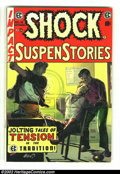 "Golden Age (1938-1955):Horror, Shock SuspenStories #16 (EC, 1954) Condition: FN+. ""Red Dupe""editorial, rape story. Beautiful George Evans cover. Overstree..."
