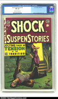 Golden Age (1938-1955):Horror, Shock SuspenStories #18 (EC, 1955) CGC VF+ 8.5 Off-white to whitepages. George Evans cover. Krigstein, Kamen, Crandall, and...