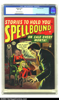 Golden Age (1938-1955):Horror, Spellbound #4 (Atlas, 1952) CGC VF- 7.5 Cream to off-white pages.Fantastic headless cover by Russ Heath. Overstreet 2002 VF...