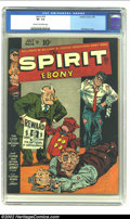 Golden Age (1938-1955):Crime, The Spirit #16 (Quality, 1949) CGC VF- 7.5 Cream to off-white pages. Will Eisner cover. Overstreet 2002 VF 8.0 value = $185....
