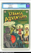 Golden Age (1938-1955):Science Fiction, Strange Adventures #14 (DC, 1951) CGC VG 4.0 Off-white to whitepages. Robot cover. Small piece off corner of every page. An...