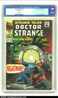 Silver Age (1956-1969):Horror, Strange Tales #164 (Marvel, 1968) CGC VF 8.0 Off-white pages. DrStrange cover. Jim Steranko and Bill Everett art. Overstree...
