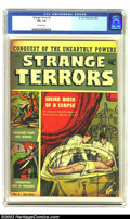 Golden Age (1938-1955):Horror, Strange Terrors #2 (St. John, 1952) CGC FN+ 6.5 Off-white pages.Bizarre pulp-style cover. Overstreet 2002 FN 6.0 value = $9...