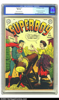 Golden Age (1938-1955):Superhero, Superboy #11 (DC, 1950) CGC FN 6.0 Cream to off-white pages. Second appearance Lana Lang, and her first cover appearance. Ov...