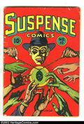 Golden Age (1938-1955):Crime, Suspense Comics #10 (Continental Magazines, 1945) Condition: VG-.L.B. Cole cover. Nice page quality on this mid-grade copy ...