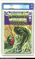 Bronze Age (1970-1979):Horror, Swamp Thing #1 (DC, 1972) CGC VF+ 8.5 White pages. This issuefeatures the origin of Swamp Thing by Berni Wrightson. Overstr...