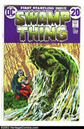 Bronze Age (1970-1979):Horror, Swamp Thing #1 (DC, 1972) Condition: VF. Autographed by Berni Wrightson and Len Wein on the first page. Overstreet 2002 VF 8...