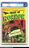 "Golden Age (1938-1955):Horror, Tales of Horror #1 (Toby Publishing, 1952) CGC FN+ 6.5 Cream tooff-white pages. Cool ""censored"" cover by Myron Fass. Rarely..."