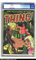 Golden Age (1938-1955):Horror, The Thing! #5 (Charlton, 1952) CGC FN+ 6.5 Cream to off-whitepages. Beautiful pre-Code horror with a severed head cover. Ov...