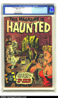 Golden Age (1938-1955):Horror, This Magazine Is Haunted #9 (Fawcett, 1953) CGC FN+ 6.5 Cream tooff-white pages. Overstreet 2002 FN 6.0 value = $72. From...