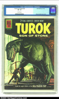 Silver Age (1956-1969):Adventure, Turok #25 (Gold Key, 1961) CGC VF- 7.5 Off-white pages. Alberto Gioletti cover and art. Overstreet 2002 VF 8.0 value = $42. ...