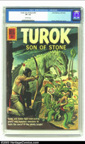 Silver Age (1956-1969):Adventure, Turok #26 (Gold Key, 1961) CGC VF- 7.5 Off-white pages. Alberto Gioletti cover and art. Overstreet 2002 VF 8.0 value = $42. ...