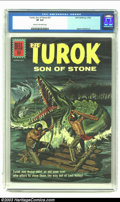Silver Age (1956-1969):Adventure, Turok #27 (Gold Key, 1962) CGC VF 8.0 Cream to off-white pages. Alberto Gioletti art. Only copy of issue graded by CGC to da...