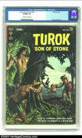 Silver Age (1956-1969):Adventure, Turok #33 (Gold Key, 1963) CGC VF/NM 9.0 Off-white to white pages. Alberto Gioletti art. Only copy of issue to be graded by ...