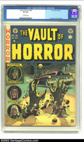 Golden Age (1938-1955):Horror, Vault of Horror #26 (EC, 1952) CGC VF 8.0 Off-white pages. The deadand decaying hands, bursting up through the street in fr...